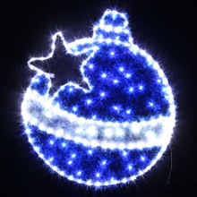 79CM Blue LED Christmas Ball with Star Motif Rope Lights