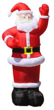 1.95M Inflatable Air Blown Santa with Lights for Christmas