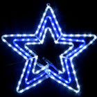 Animated 55CM LED Flashing White Blue Star Christmas Motif Rope Lights