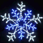 Animated 66CM LED Christmas Snowflake White and Blue Motif Rope Lights