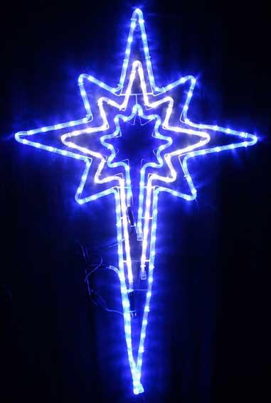 Vickysun animated cm led blue white bethlehem