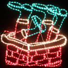 Animated 81CM Wide Santa Stuck in Chimney Christmas Motif Rope Lights