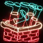 Animated 81CM Wide Santa Stuck in Chimney Christmas Motif Rope Lights