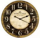 "59CM French Country ""Hotel Vieux"" Wall Clock with Fleur-de-Lis"
