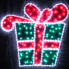 Animated 107CM 100 LED Christmas Gift Box Motif Rope Lights