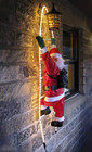 Santa Climbing Ladder Rope Lights Christmas Decoration 145CM