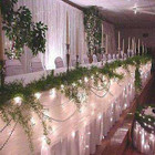 180 LED White Wedding Table Curtain Lights with 8 Functions & Memory 7.2M X 1M