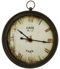 91CM French Country Large Distressed Iron Edged Cafe Clock with Handle