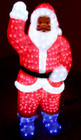120CM 3D Acrylic Santa with 600 White LED Christmas Lights