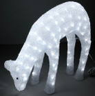 45CM 3D Acrylic Deer Doe Eating with 120 White LED Christmas Lights