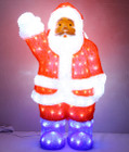 60CM 3D Acrylic Santa with 200 White LED Christmas Lights