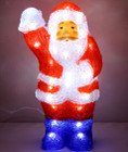 36CM 3D Acrylic Santa with 48 White LED Christmas Lights