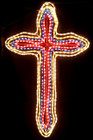 120CM Flashing Christmas Cross Motif Rope Lights