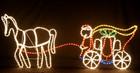 173CM Wide Santa Riding Carriage Christmas Motif Rope Lights