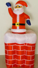 153CM Inflatable Air Blown Santa in Chimney Up and Down for Christmas
