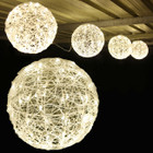 3.3M 30CM 4 Balls LED Warm White Christmas Lights with 8 Functions