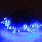 6M 60 LED Blue Wedding Battery Operated Fairy Lights Flash & Static for Centerpieces