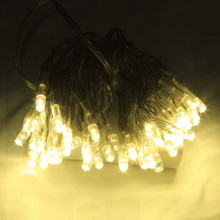 6M 60 LED Warm White Battery Fairy Lights