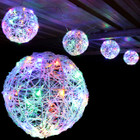 3.2M 20CM 4 Balls LED Multi Colour Christmas Lights with 8 Functions