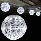 3.2M 20CM 4 Balls LED White Christmas Lights with 8 Functions