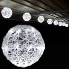 7.2M 20CM 8 Balls LED White Christmas Lights with 8 Functions