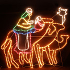 120CM Wise Men Riding Camels Towards The Star Of Bethlehem Nativity Christmas Motif Rope Lights