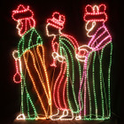 152CM High LED Three Wise Men Giving Gifts Nativity Christmas Motif Rope Lights (36V Safe Voltage)