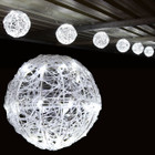 5.2M 20CM 6 Balls LED White Christmas Lights with 8 Functions