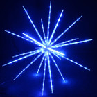 102CM 160 Blue LED Hanging Blast Ice Star Ball Christmas Light Decoration