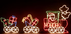 Animated 224CM Long 3 Set Christmas Train with HO HO HO Motif Rope Lights