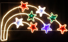 Animated 141CM LED 8 Stars with PVC Grass Christmas Motif Rope Lights