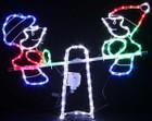 LED Elves Seesaw Christmas Motif Rope Lights