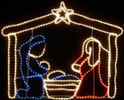 LED Nativity Christmas Motif Rope Lights