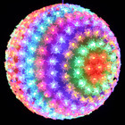 28CM 300 LED Multi Colours Ball Light with Floral Design Christmas Wedding Lights