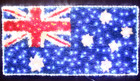 200CM LED Large Australian Flag Light with PVC Grass for Christmas Event Decoration