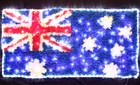 150CM LED Australian Flag Light with PVC Grass for Christmas Event Decoration