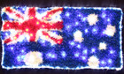 100CM LED Australian Flag Light with PVC Grass for Christmas Event Decoration
