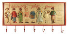 French Shabby Chic Children Fashion Coat Rack Red