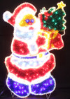 160CM LED Santa Giving Gift and Christmas Tree Christmas Motif Rope Lights