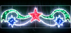 200CM Wide LED Comet Christmas Motif Rope Lights with PVC Grass
