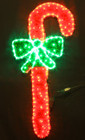 130CM LED Candy Cane with Bow Christmas Motif Rope Lights