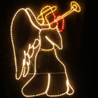 Animated 118CM High Angel with Trumpet Nativity Christmas Motif Rope Lights