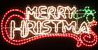 Animated 148CM Wide 'Merry Christmas' Motif Rope Lights
