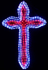 120CM LED Flashing Christmas Cross Motif Rope Lights (LED Save Energy)