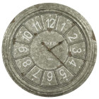 60CM Antique Taupe Round Metal Clock
