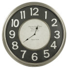 62CM Black and White Hotel UN Monde Clock