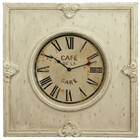 74CM French Country Resin Wood Clock in Cream