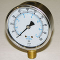 "Global Water, PG100-VAC Pressure Gauge, 2.5"", SS, 30""hg"