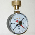 Global Water, PG150 Pressure Gauge, 300psi, top mount, garden hose thread