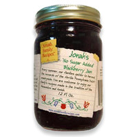 Jonah's No Sugar Added Blackberry Jam